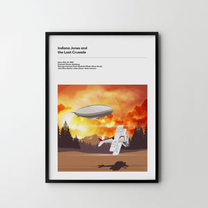 INDIANA JONES Last Crusade 1989, Movie Film Art Poster Print Harrison ford - SOA State of Art