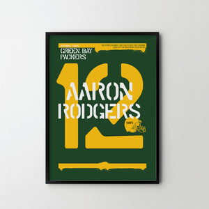 AARON ROGERS Green Bay Packers American Football NFL - SOA State of Art