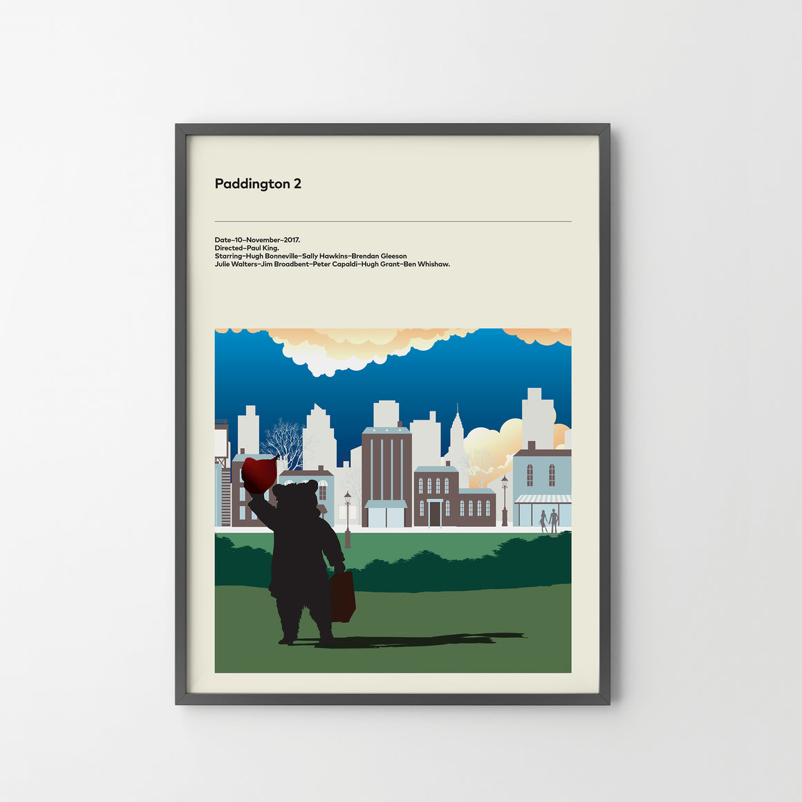PADDINGTON 2 Poster Art Print, Movie Film Posters Bear Movie Paddington - SOA State of Art