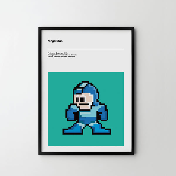 MEGA MAN 1988 Poster Art Print, Retro Video Games Poster Mega Man - SOA State of Art