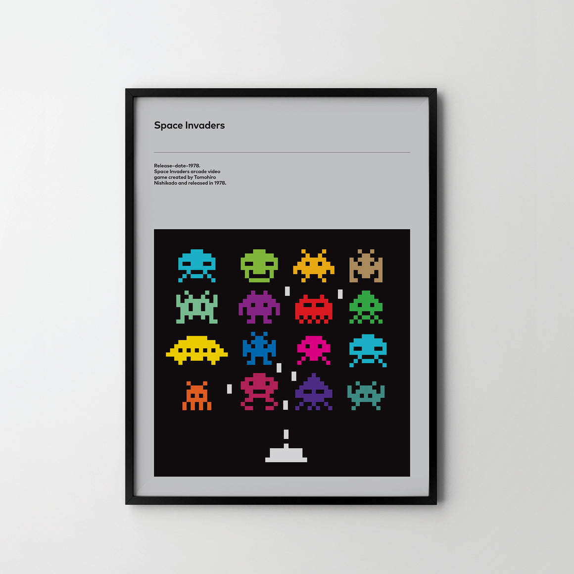 SPACE INVADERS No 2. Retro Poster Art Print, Video Game Posters - SOA State of Art