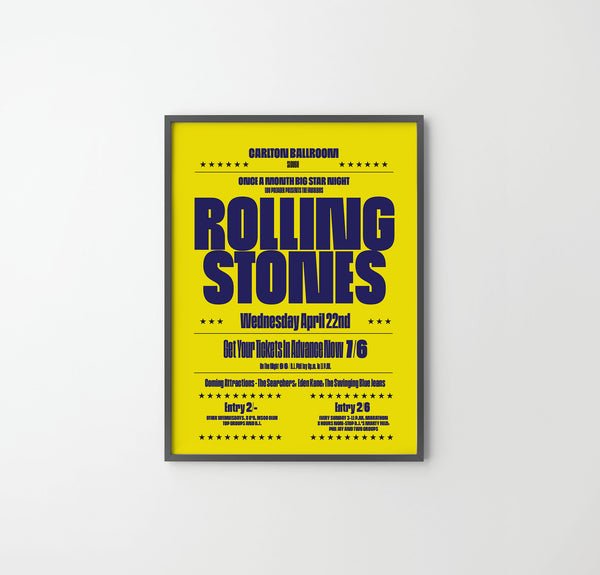 ROLLING STONES CONCERT Poster Art Print, Music Rock Posters, Stones - SOA State of Art