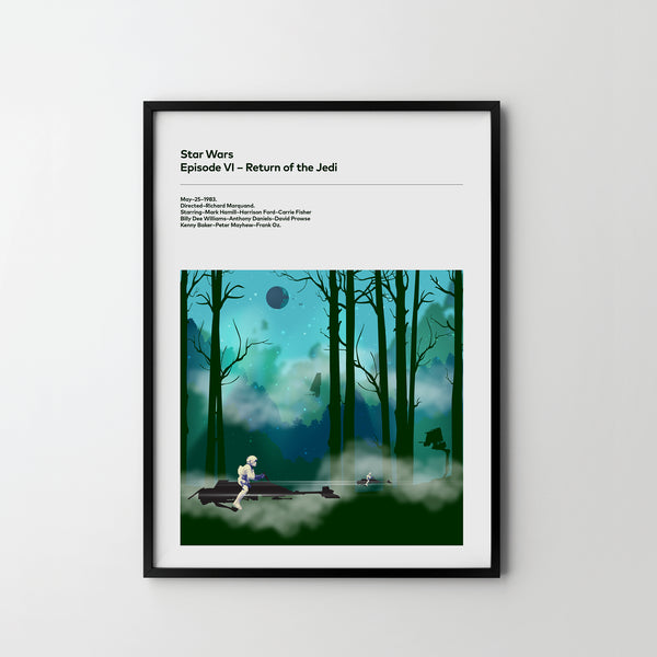 STAR WARS Return Of The Jedi Poster Art Print, Movie Film Posters, Star Wars - SOA State of Art