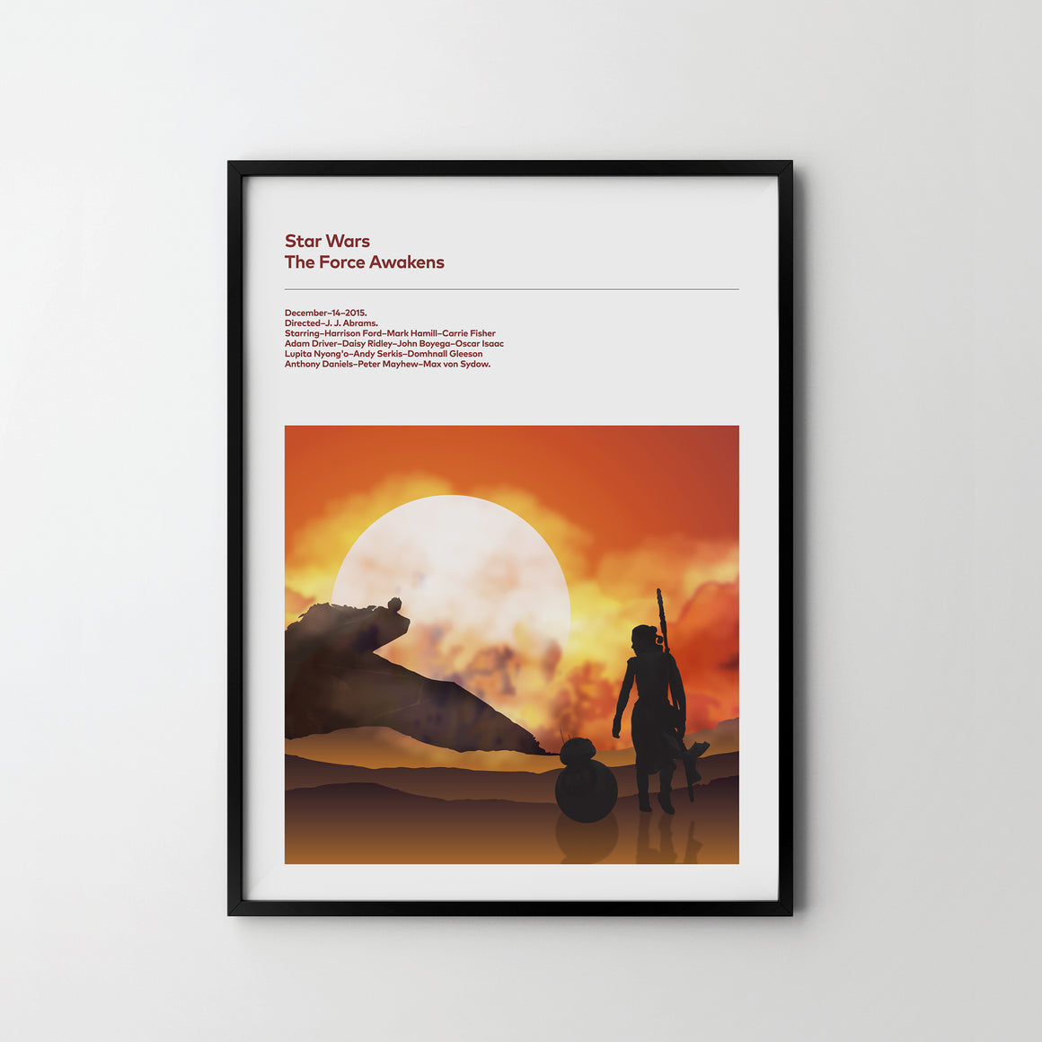 STAR WARS The Force Awakens Poster Art Print, Movie Film Posters, Star Wars - SOA State of Art