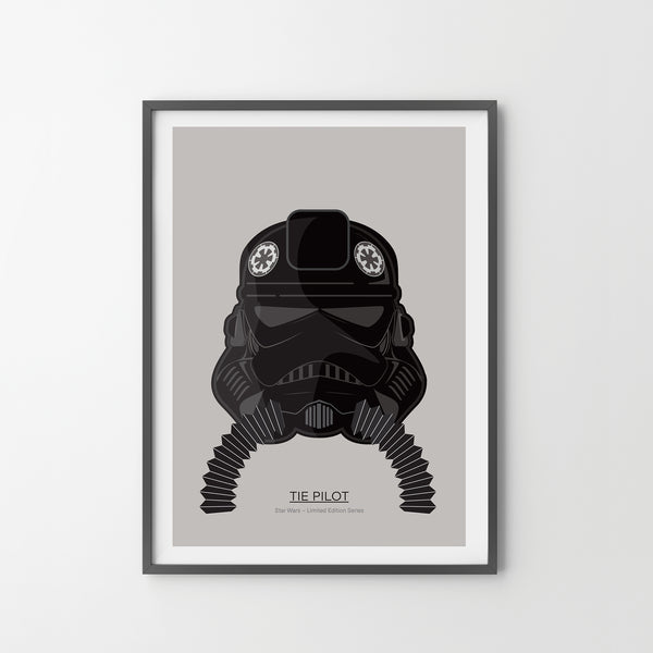 STAR WARS Imperial Pilot Giclée Art Poster Print Animation, Modern Office Bedroom Star Wars - SOA State of Art