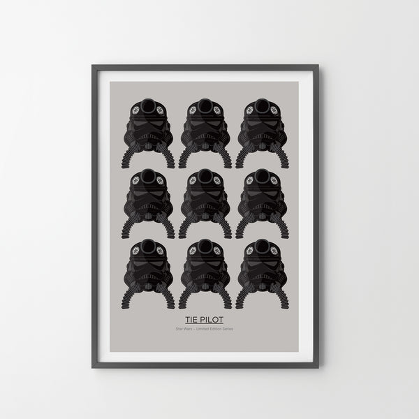 STAR WARS Imperial Pilots 9 Giclée Art Poster Print Animation, Modern Wall Print - SOA State of Art