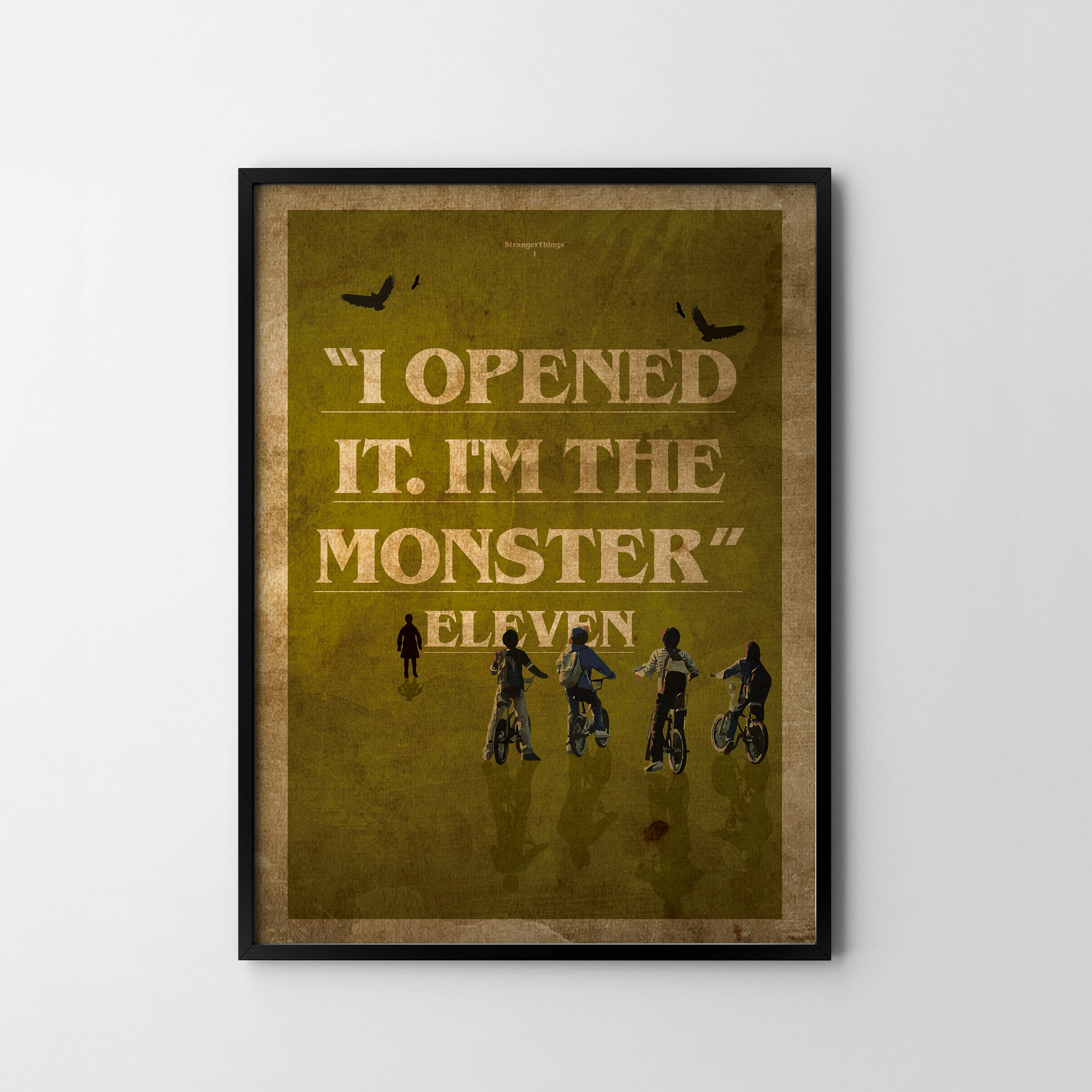 Stranger Things Quotes 4. TV Giclée Art Poster Print Wall Office ST ...