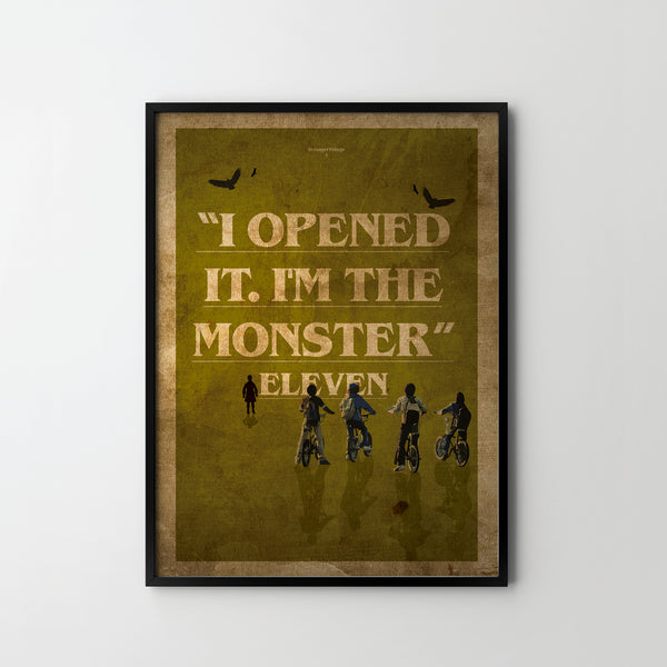 STRANGER THINGS TV Quotes 4. Giclée Art Poster Print, Modern Wall Print Office Bedroom - SOA State of Art