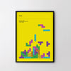 TETRIS 1984 - Retro Poster Art Print, Video Game Posters, Minimal Arcade Print - SOA State of Art