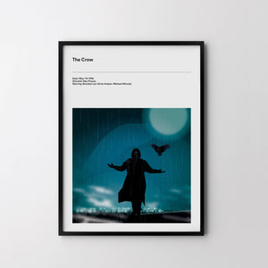THE CROW Brandon Lee 1994 Art Print, Cult Minimal Movie Film Poster - SOA State of Art