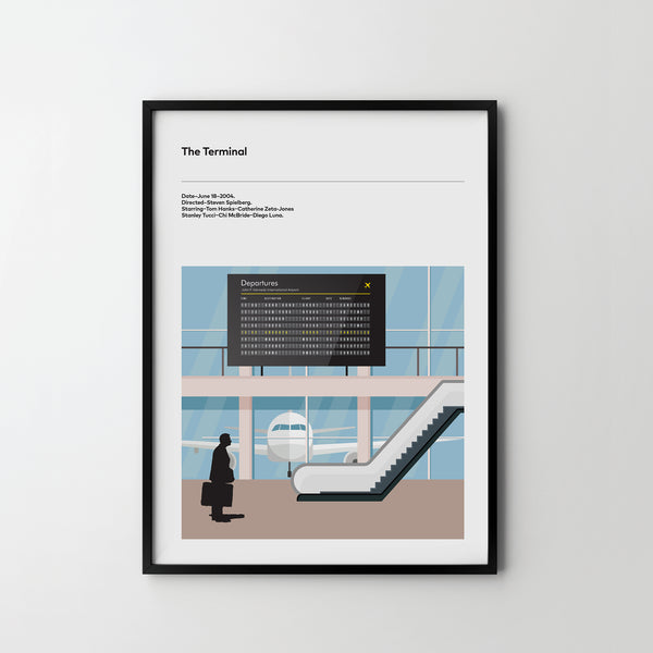 THE TERMINAL 2004 Poster Art Print, Movie Film Posters Tom Hanks - SOA State of Art