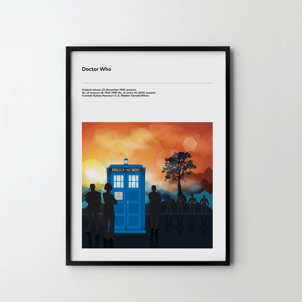 DOCTOR WHO 2017, TV Show Art Poster Print Dr Who - SOA State of Art