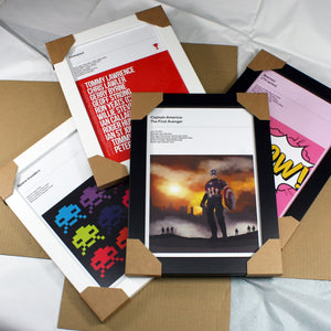 PICTURE FRAMES A4 Black / White MDF Wrap Profile Picture Photo Frames *Special Print & Frame Offer £18 - SOA State of Art