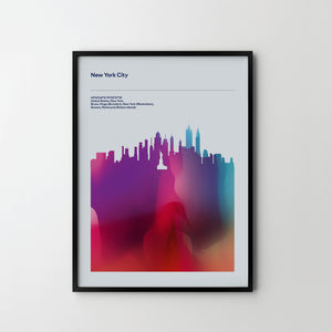 NEW YORK Big Apple City Cityscape Skyline Unique Poster Art Print, Places Posters - SOA State of Art