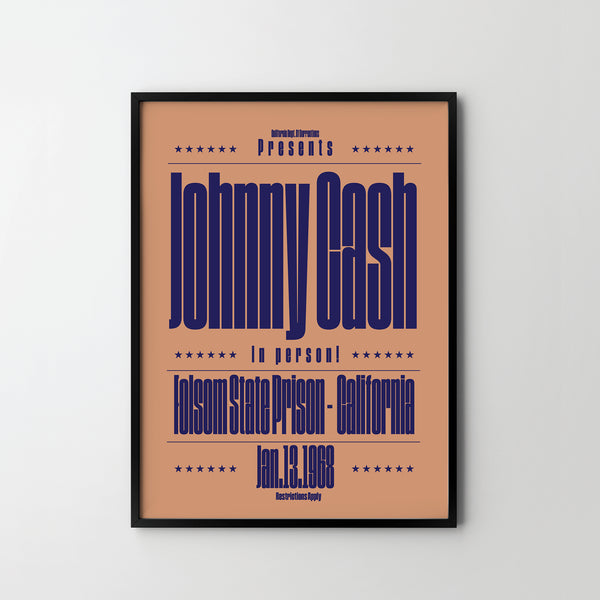 JONNY CASH CONCERT Poster Art Print, Music Country Rock Posters - SOA State of Art