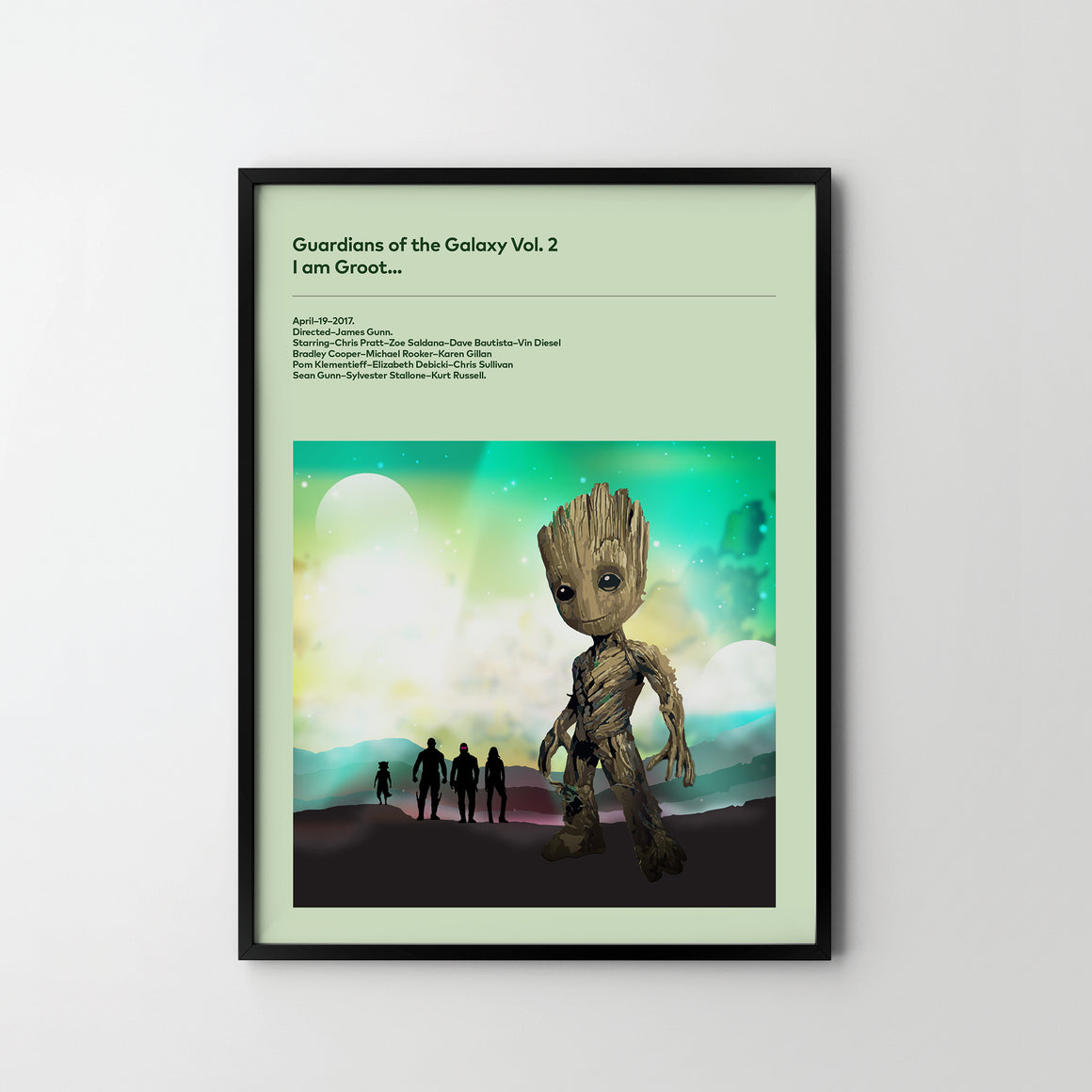 GUARDIANS OF GALAXY Vol. 2 BABY GROOT 2017 Poster Art Print, Movie Film Posters - SOA State of Art