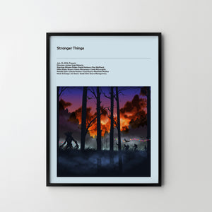 STRANGER THINGS Netflix 2016, Poster Art Print, Movie Film Posters, Stranger Things - SOA State of Art
