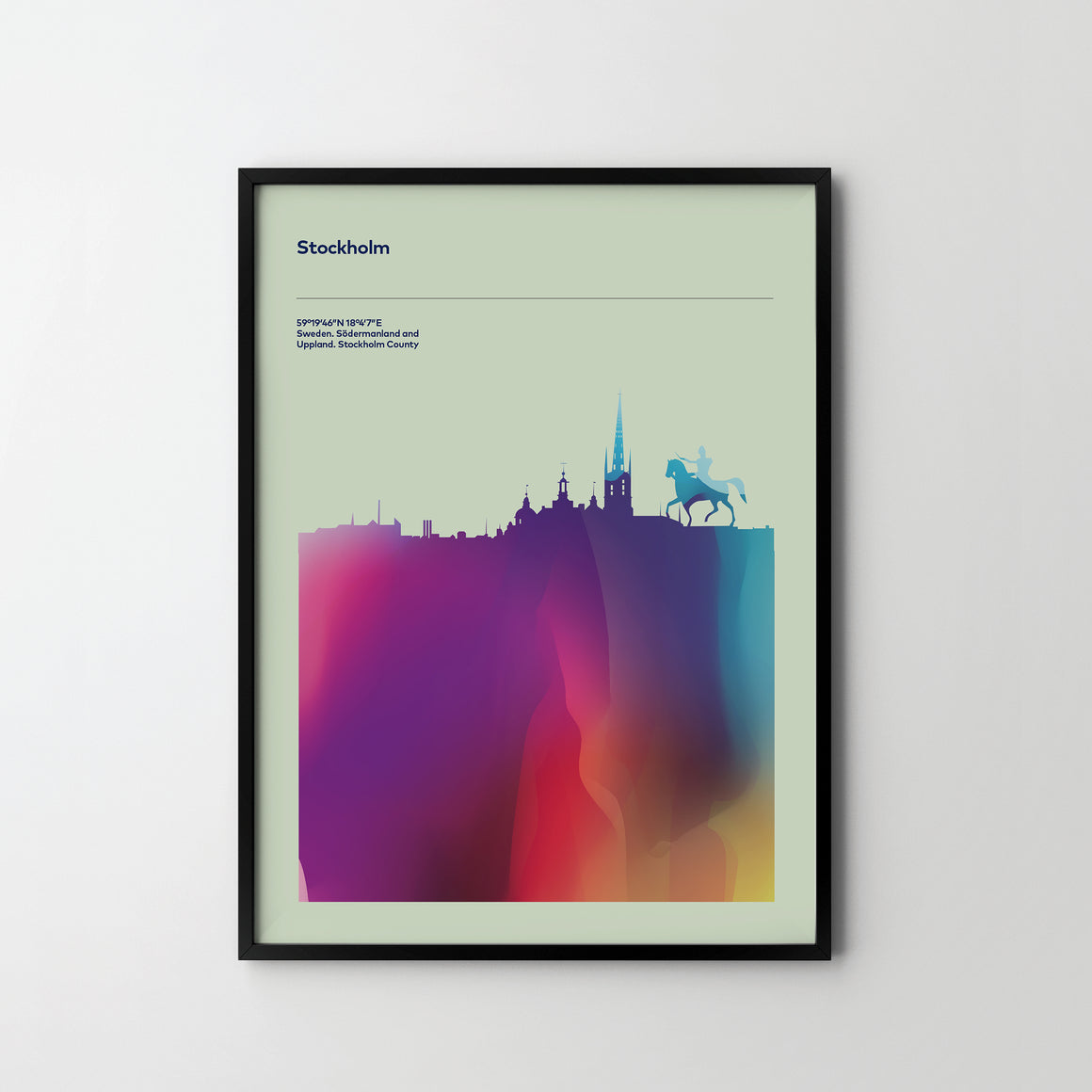 STOKHOLM City Cityscape Skyline Unique Poster Art Print, Places Posters - SOA State of Art