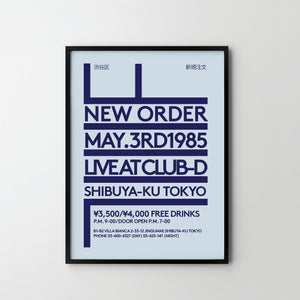 NEW ORDER 1985 CONCERT Poster Art Print Dance Indi Music Posters - SOA State of Art