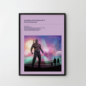 GUARDIANS OF GALAXY Vol. 2 DRAX 2017 Original Design Poster Art Print, Movie Film Posters frames - SOA State of Art