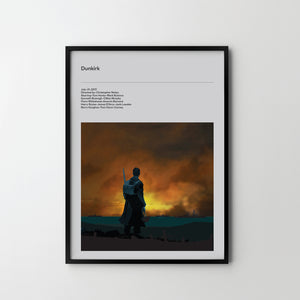 DUNKIRK 2017 Poster Art Print, Movie Film Posters - SOA State of Art