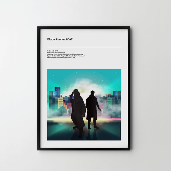 BLADE RUNNER 2049 Poster Art Print, Movie Film Posters Ryan Gosling 2017 - SOA State of Art