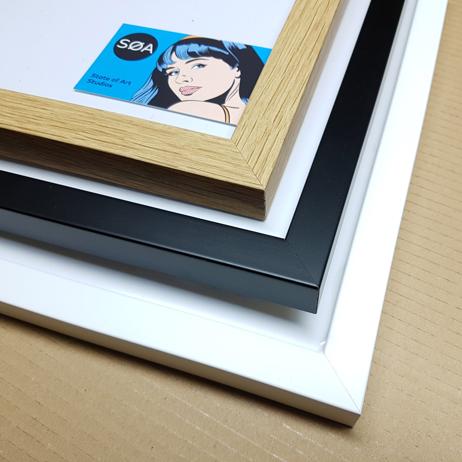 SOLID WOOD Picture Frame Black / White / Oak A3 & A2 Options Quality ...