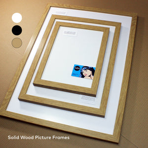 SOLID WOOD Picture Frame Black White Oak A3 & A2 Options Quality photo certificate - SOA State of Art