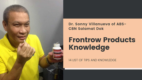 Frontrow Products 14 Tips from Dr. Sonny Villanueva of ABS-CBN Salamat Dok