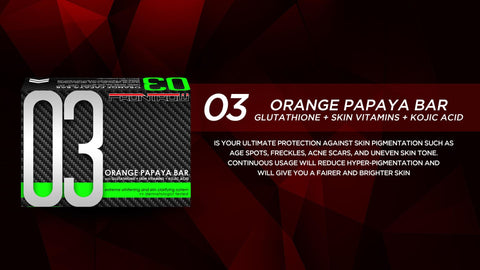 03 Orange Papaya Bar Glutathione Skin Vitamins Kojic Acid