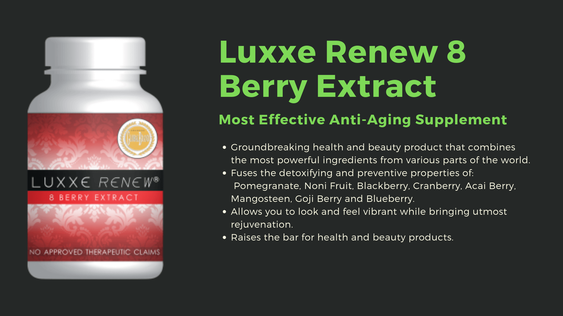 luxxe renew 8 berry extract image details