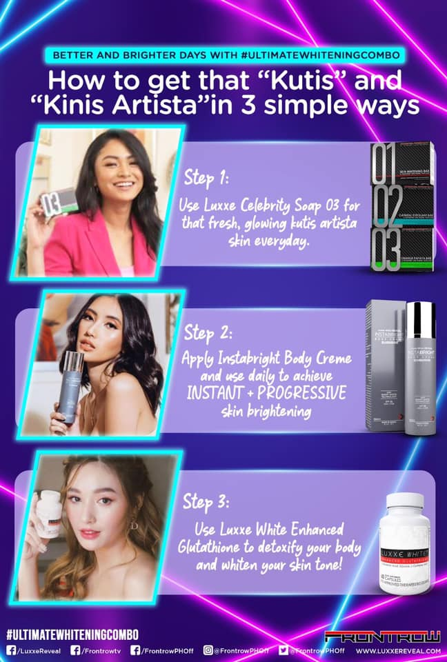 3 Easy Steps With the Luxxe Skin Ultimate Whitening Combo