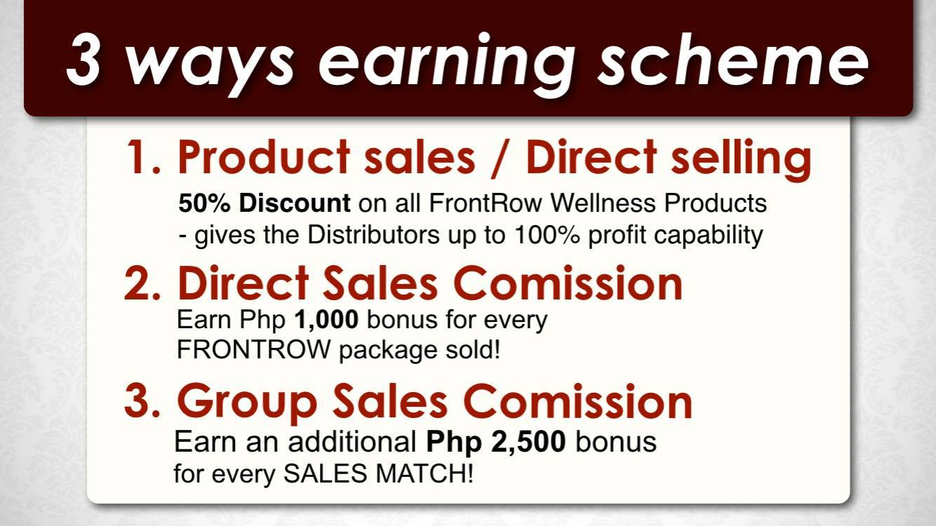 2 ways earning scheme of frontrow