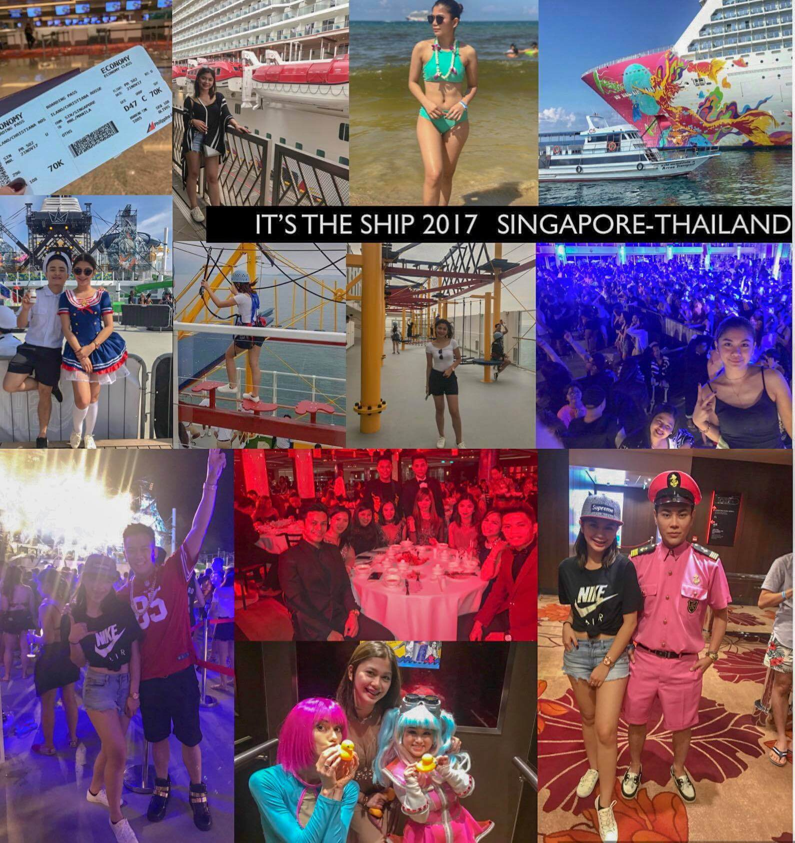 Ainna Ilano It's the ship tour 2017 singapore thailand