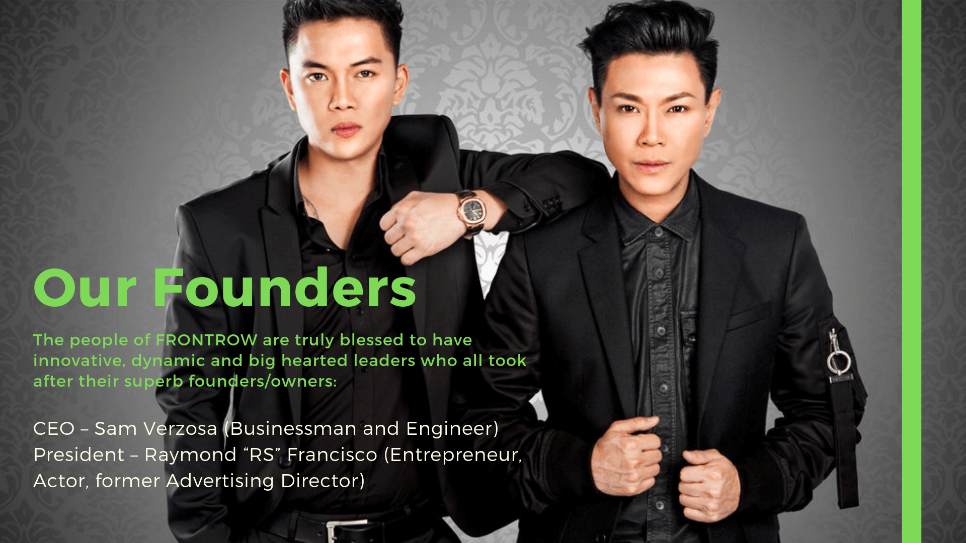 Frontrow International Owners and Founders