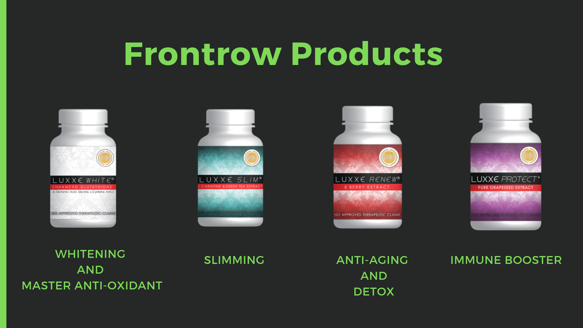 frontrow international luxxe products