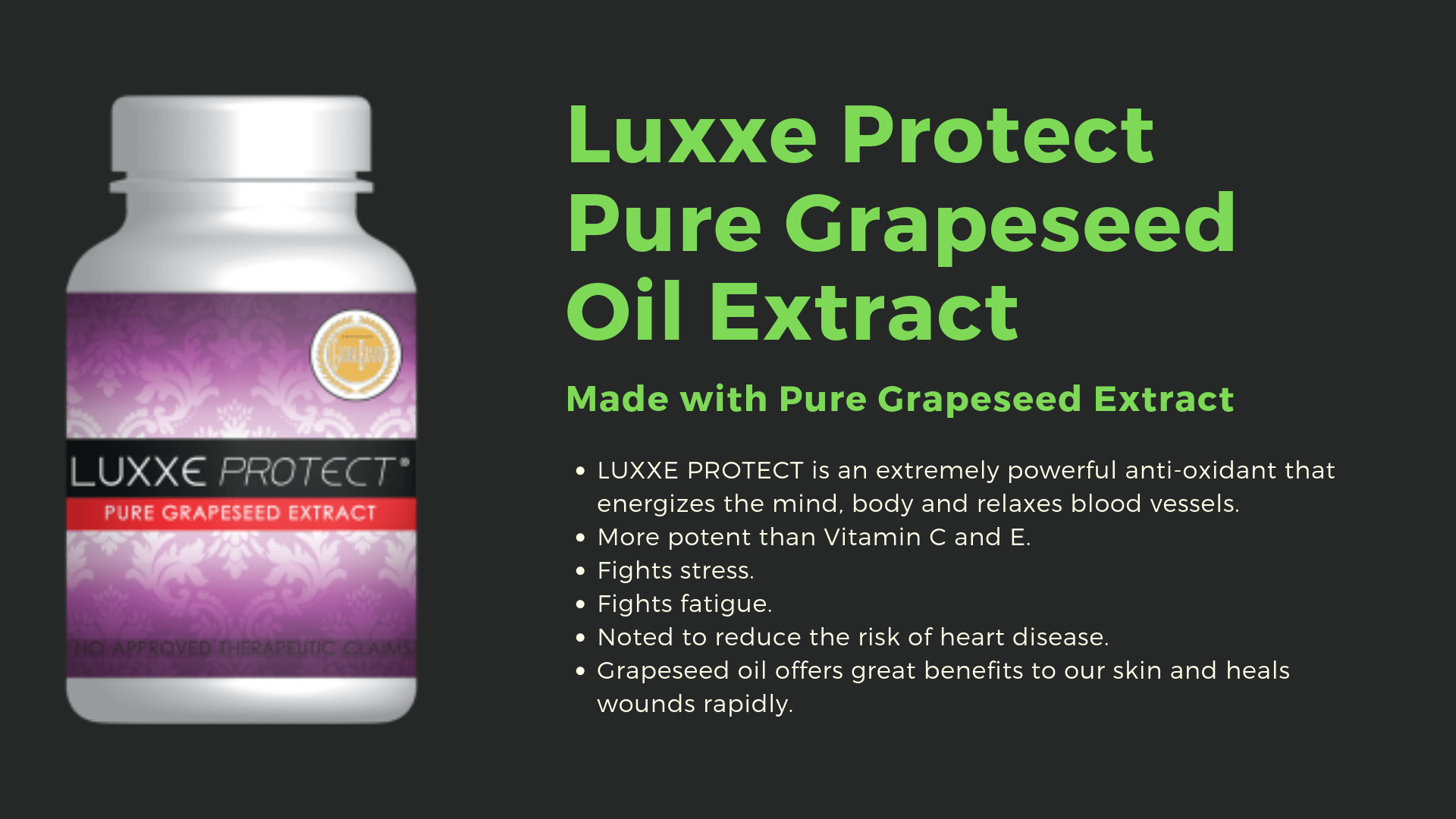 luxxe protect pure grapeseed oil extract image details