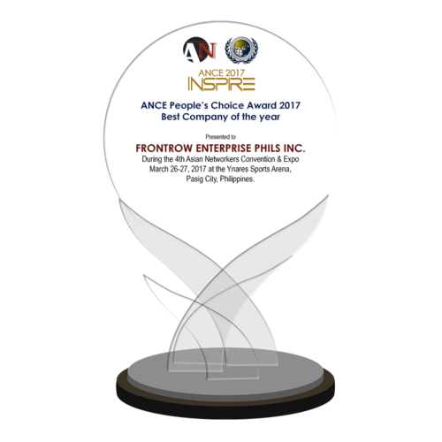 FRONTROW ENTERPRISE PHILS INC. 2017 ANCE People's Choice Awardee Best Company of the Year
