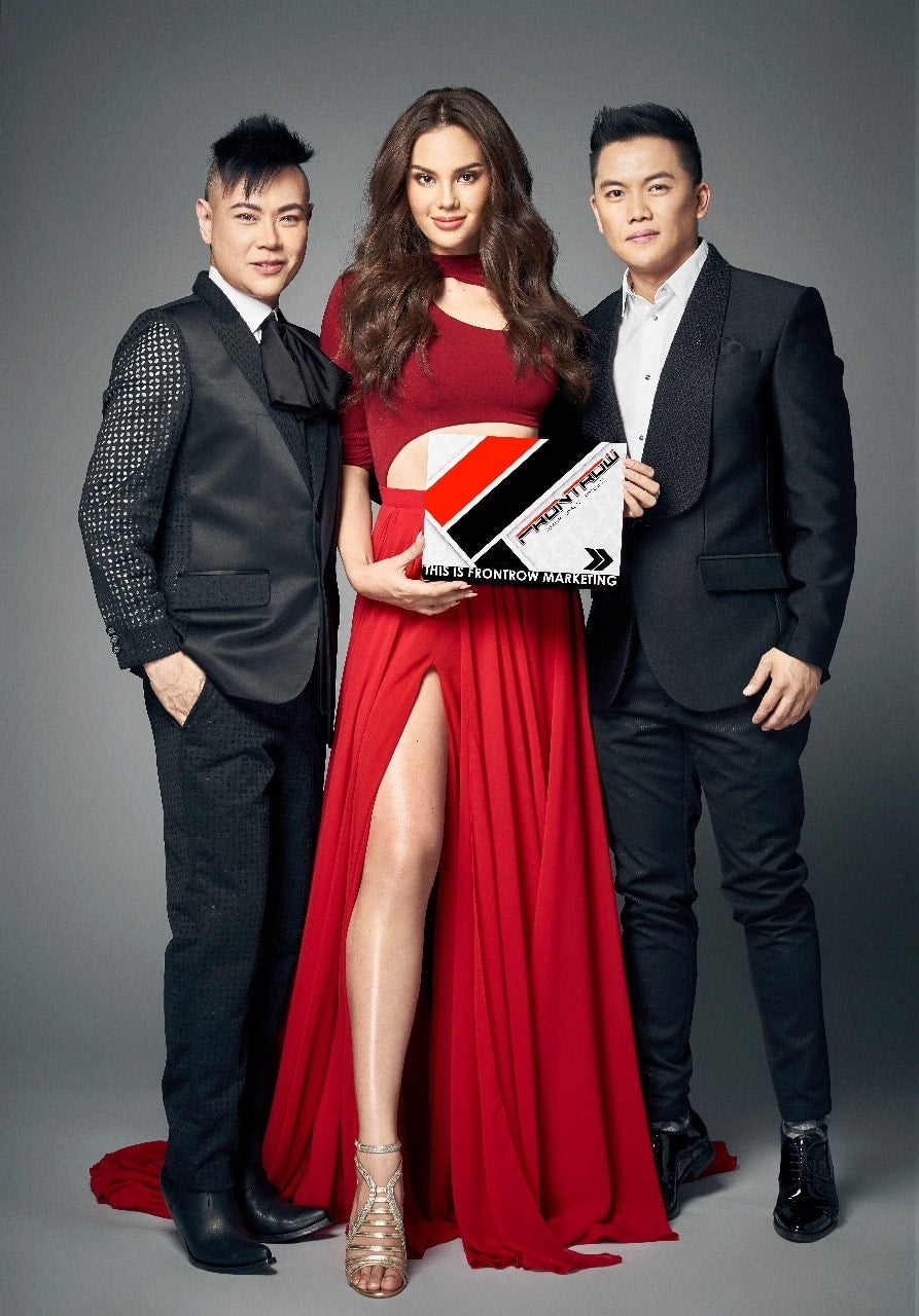 Catriona Gray with Frontrow Owners