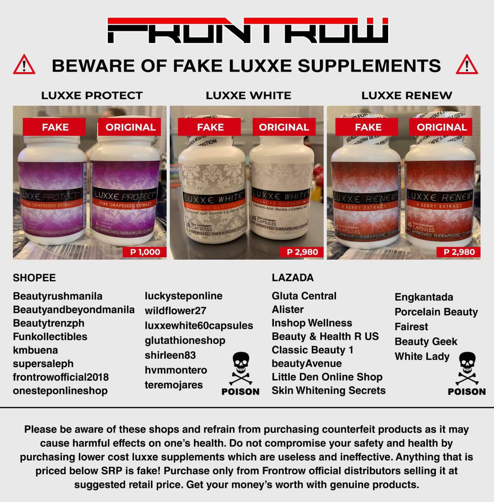 Fake Frontrow Luxxe Products