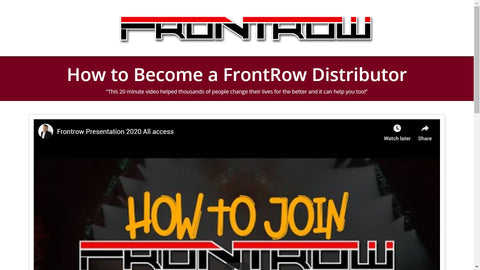 Frontrow Free Website Online Sales Presentation