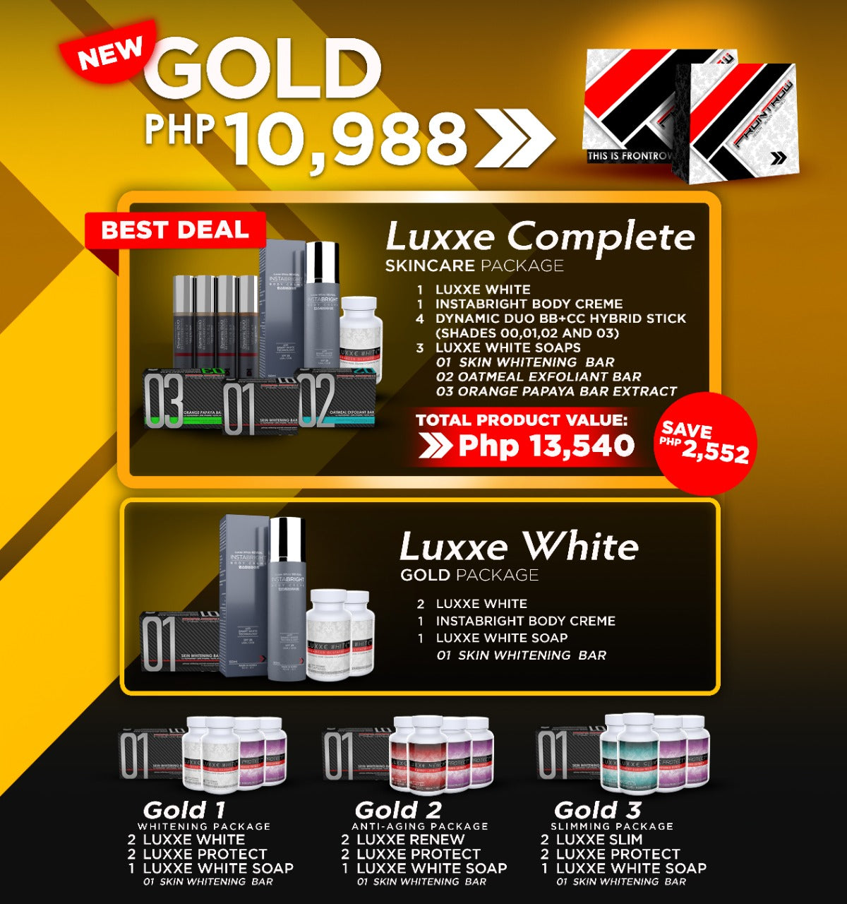 Frontrow Gold Package