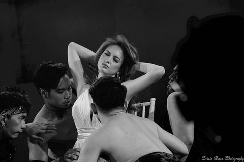 "THE SENSATIONAL ELLEN ADARNA GOES FIFTY SHADES OF GREY TO ""CRAZY IN LOVE 50 SHADES OF GREY REMIX"". PHOTO CREDIT: TRIXIE DAUZ PHOTOGRAPHY"