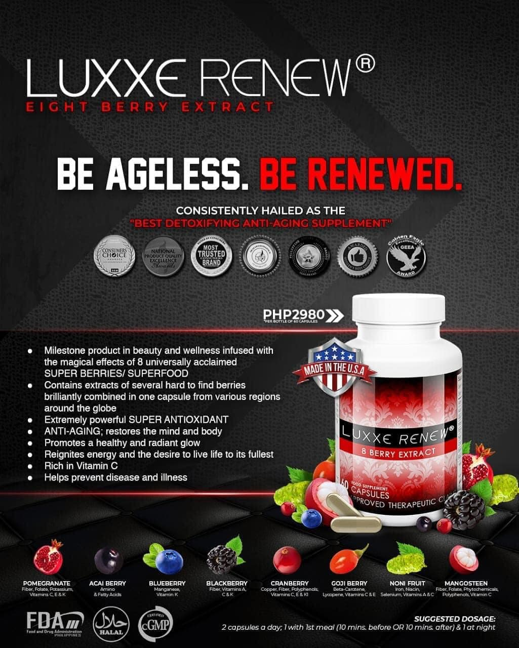 Luxxe Renew Best Detoxifying Anti-Aging Supplement