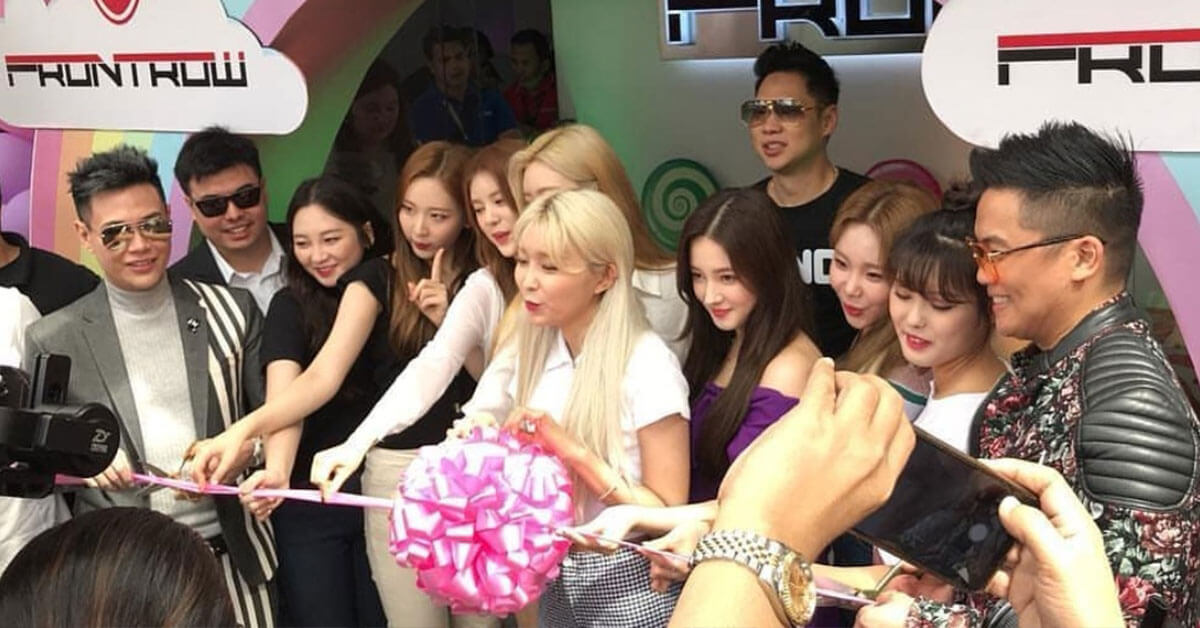 MOMOLAND CUTS RIBBON OF NEWEST FRONTROW OFFICE AT MOTHER IGNACIA QUEZON CITY