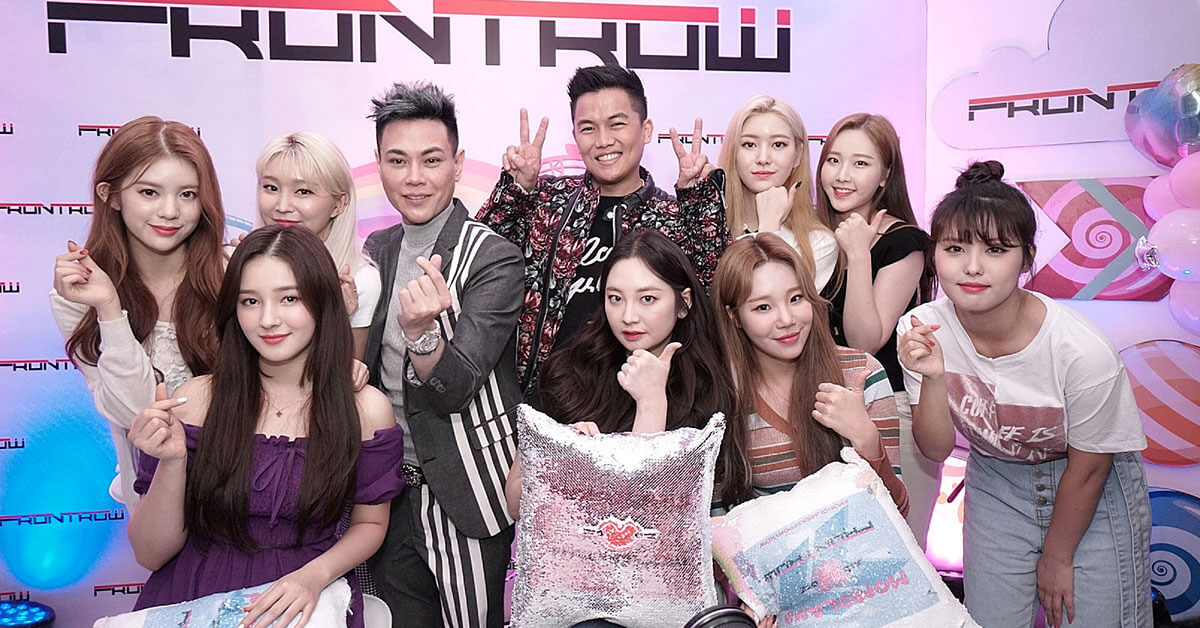 MOMOLAND TOGETHER WITH FRONTROW'S RS FRANCISCO AND SAM VERZOSA DURING THEIR PRESS CON.