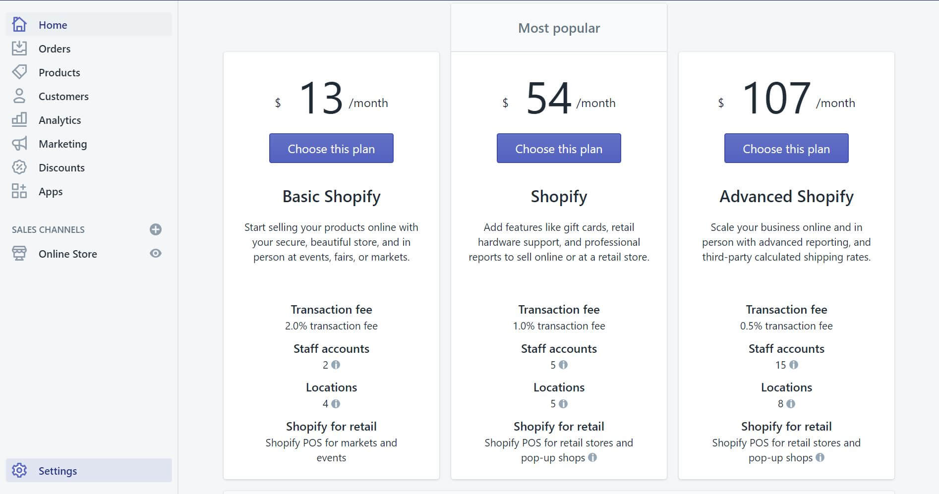Sellect Shopify Plan Price