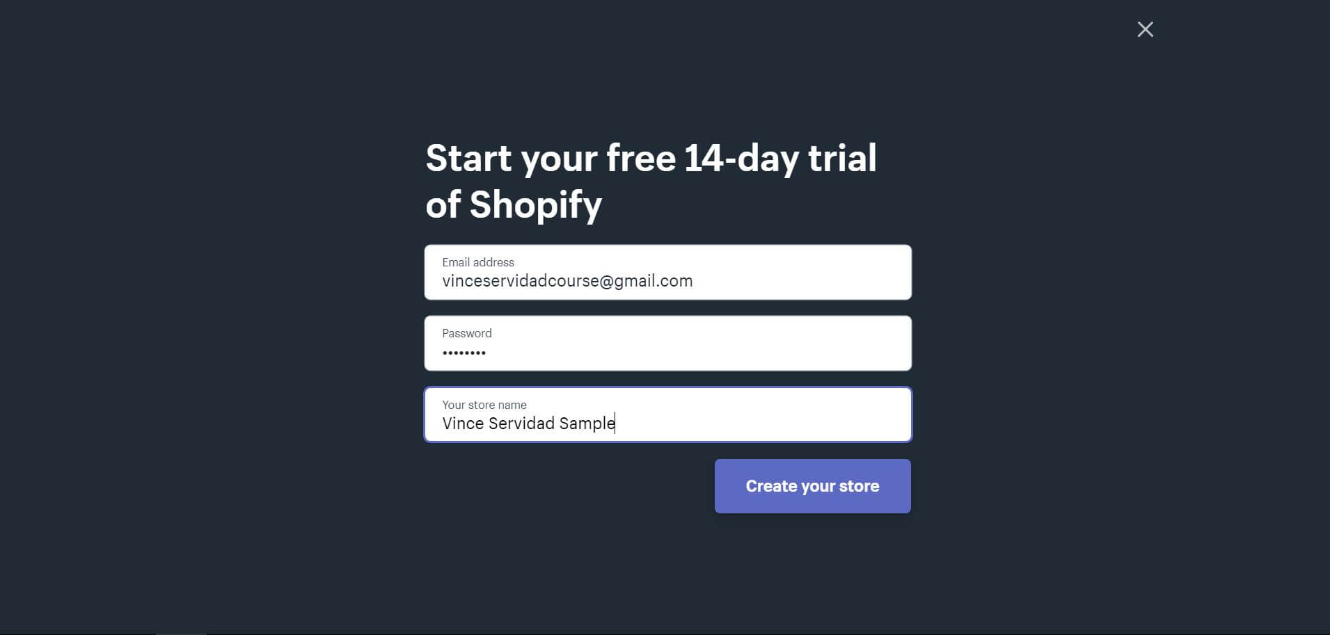 Shopify Free 14-Day Trial