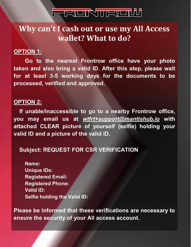 Why Can't I Cash Out or Use My All Access Wallet What to Do