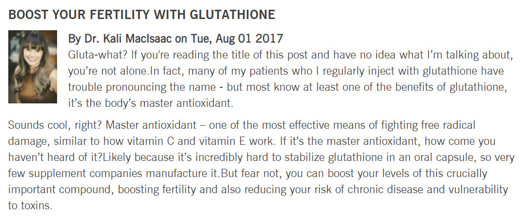 glutathione brand for fertility